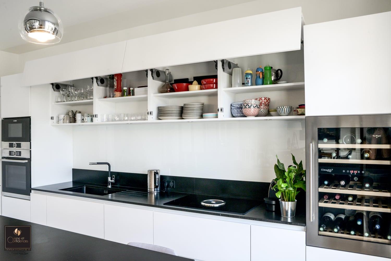 Magnifique cuisine aux lignes pur es cuisine et confidences - Cuisine et confidences ...